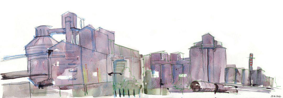Anne Nilges Urban Sketching Aquarell Mainz