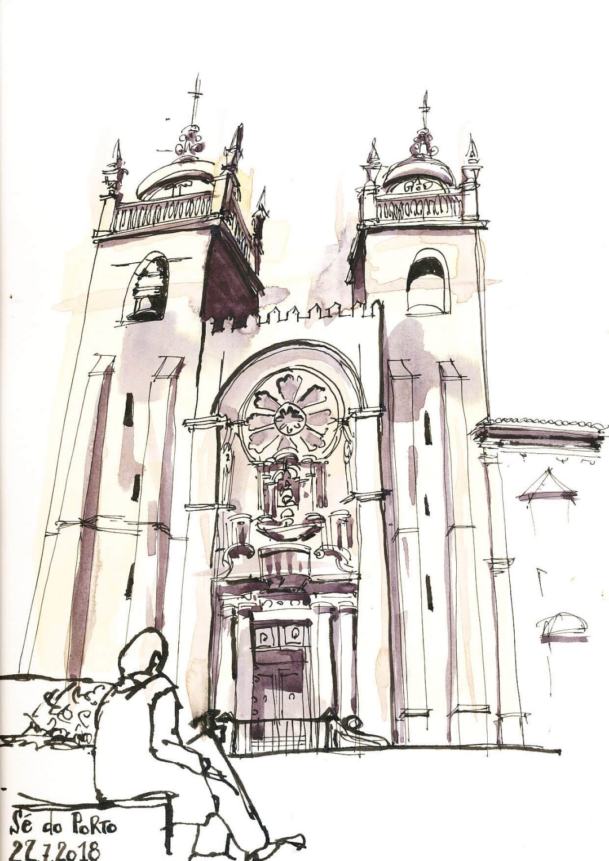 Anne Nilges Urban Sketching Aquarell Porto