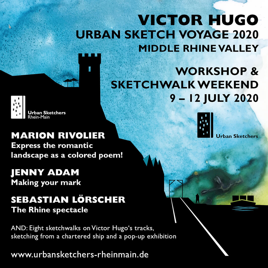 Anne Nilges Urban Sketching Logo Victor Hugo Urban Sketch Voyage