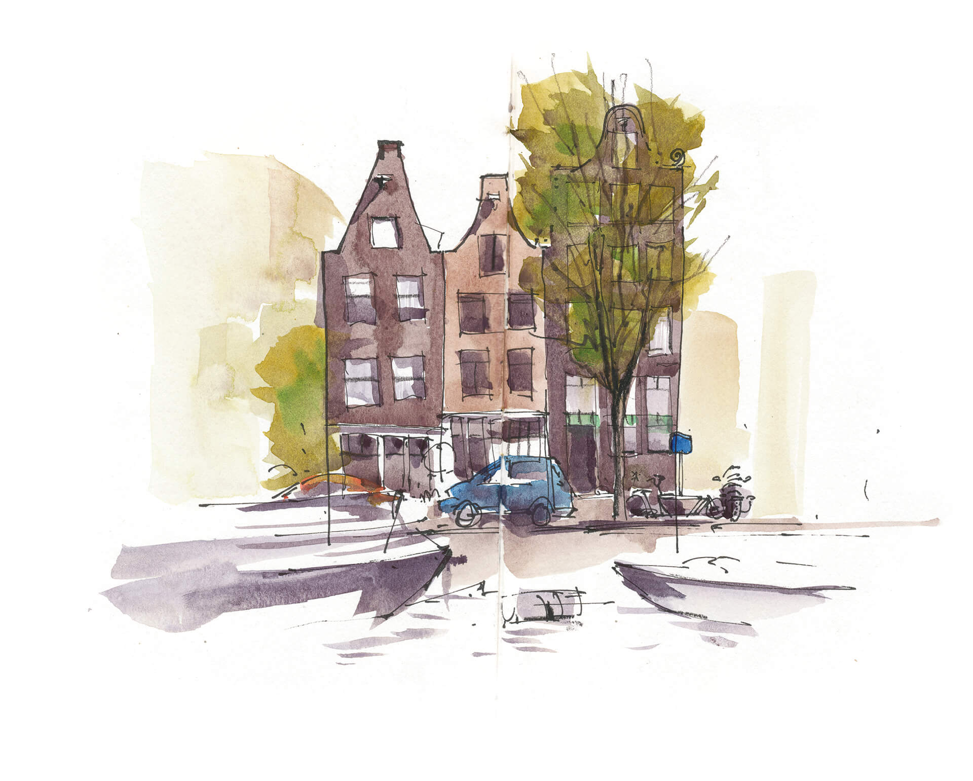 Anne Nilges Urban Sketching Aquarell