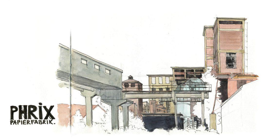 Anne Nilges Urban Sketching Aquarell