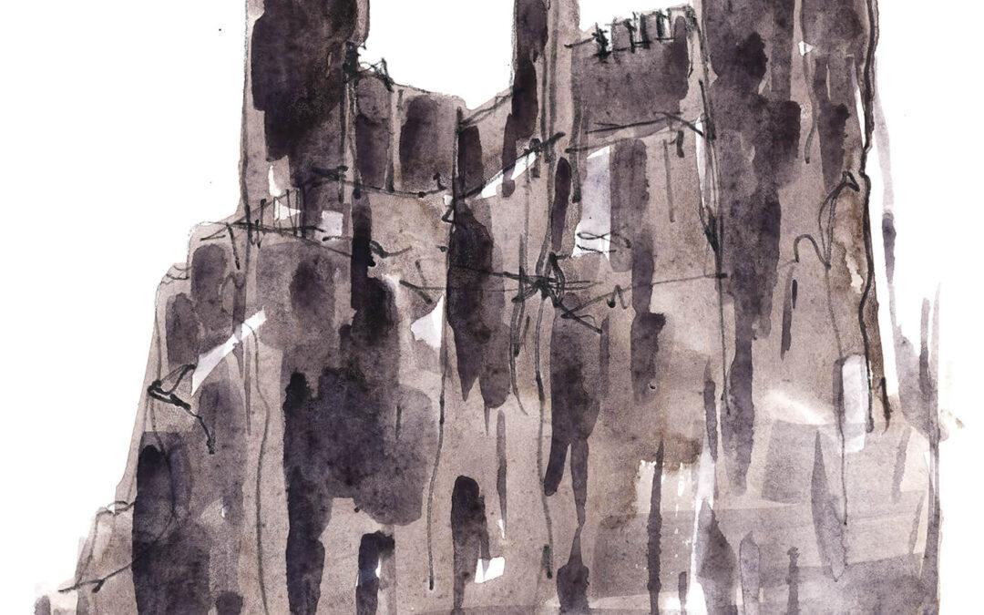 Burg Rheinstein – Victor Hugo Urban Sketch Voyage