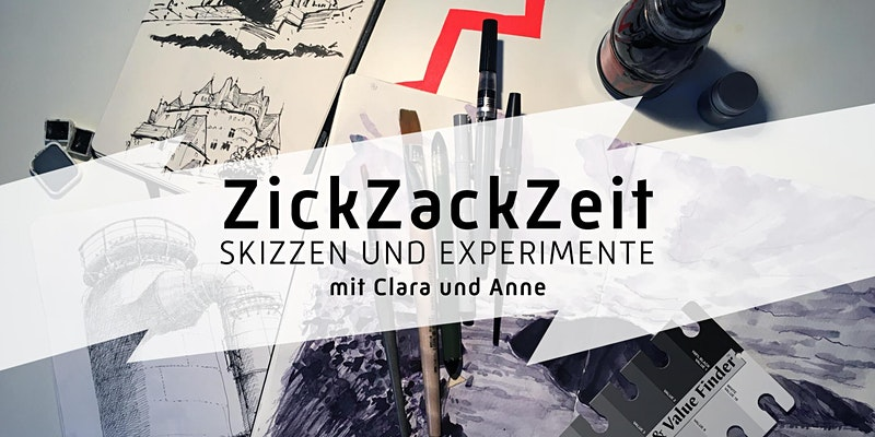 ZickZackZeit Experimente im Skizzenbuch / Urban Sketching Workshop