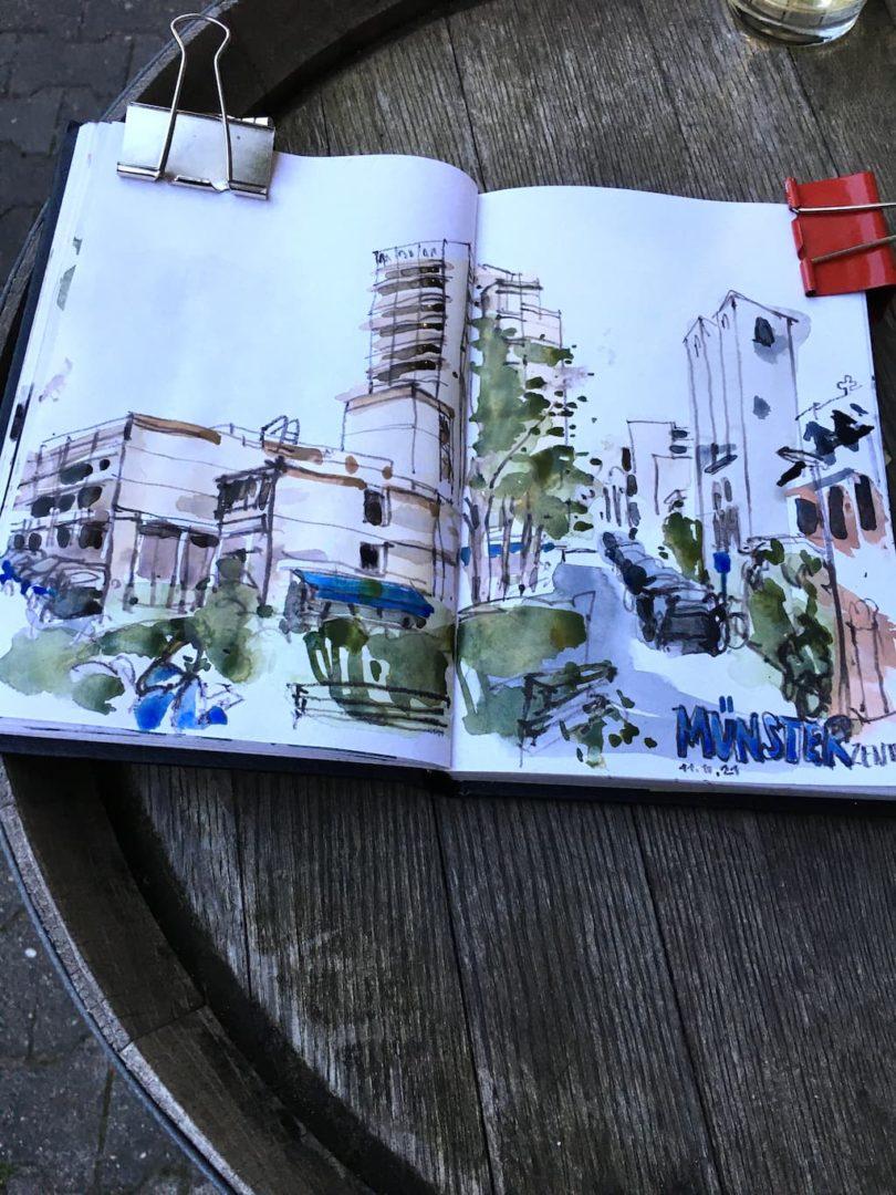 locker zeichnen: Details mit Farbstift